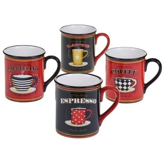 Certified International Coffee Always 17 oz. Mugs in Assorted Designs Set of 4
