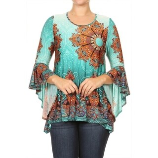 Women's Plus Size Cheetah Pattern Tunic