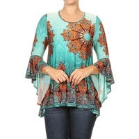 Women's Plus Size Cheetah Pattern Tunic