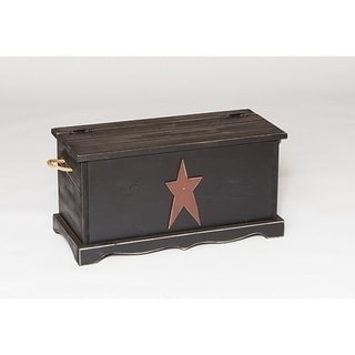 Primitive Rustic Country Storage Chest with Star