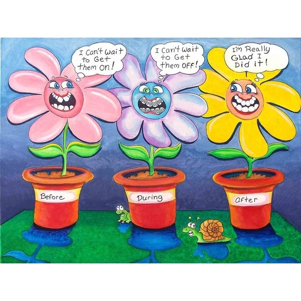 """Flowers braces"" by Steve Gill, Canvas Giclee Wall Art"