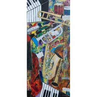 """""""Jazz and Blues"""" by Kelvin Henderson, Canvas Giclee Wall Art"""