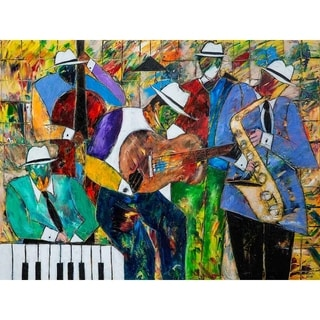"""""""Jazz Session"""" by Kelvin Henderson, Canvas Giclee Wall Art"""