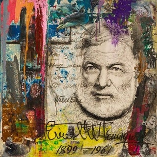 Shop Quot Ernest Hemingway Quot By Chengju Li Giclee Canvas Wall