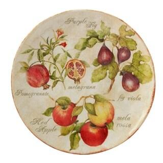 Certified International Tuscan Fruit Round Platter