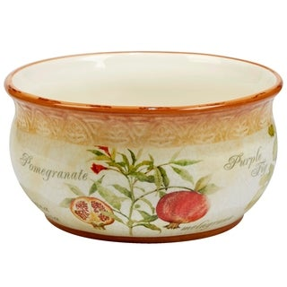 Certified International Tuscan Fruit 10  inch Deep Bowl