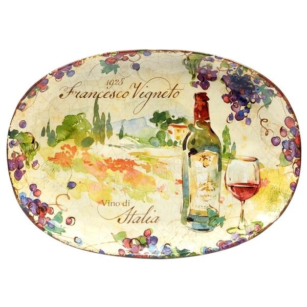 Certified International Vino 17.25 inch Oval Platter