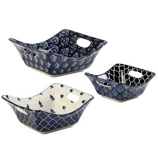 Certified International Blue Indigo 3 PC Square Bowl Set|https://ak1.ostkcdn.com/images/products/18063749/P24226361.jpg?impolicy=medium