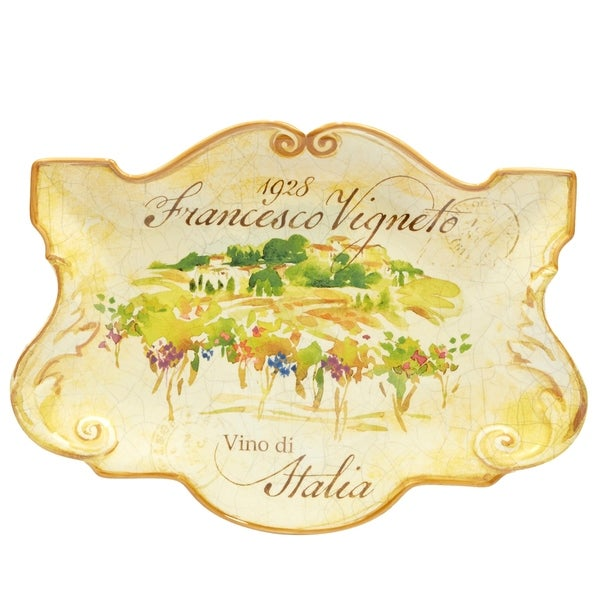 Certified International Vino Rectangular Platter