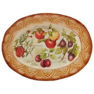 Certified International Tuscan Fruit Oval Platter