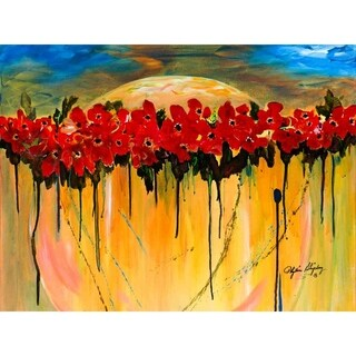 """""""Space Poppies"""" by Phyllis Shipley, Giclee Canvas Wall Art Print"""