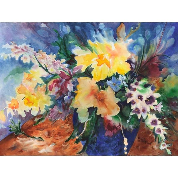 """""""Burst of Color"""" by Phyllis Shipley, Giclee Canvas Wall Art Print"""