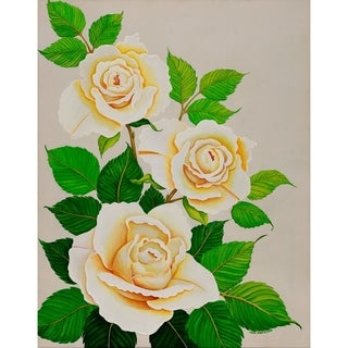 """White Rose"" by Carol Sabo, Canvas Giclee Wall Art"