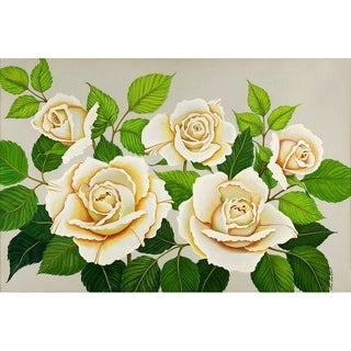 """White Roses"" by Carol Sabo, Canvas Giclee Wall Art"
