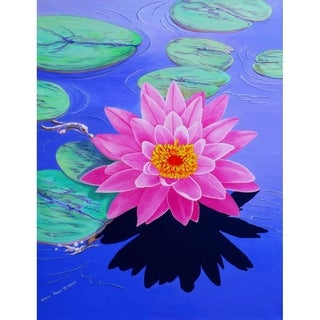 """Water Lily"" by Carol Sabo, Canvas Giclee Wall Art"
