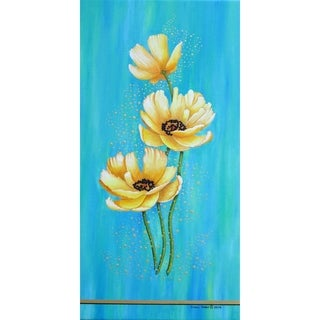 """Yellow Poppies"" by Carol Sabo, Canvas Giclee Wall Art"