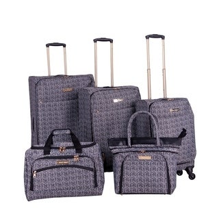 Jenni Chan Bryant Black 5-piece Spinner Luggage Set