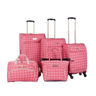 Jenni Chan Hanover Coral 5-piece Spinner Luggage Set