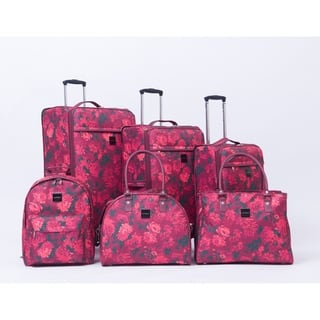 Isaac Mizrahi Irwin Berry Floral 6-piece Spinner Luggage Set|https://ak1.ostkcdn.com/images/products/18064039/P24226771.jpg?impolicy=medium