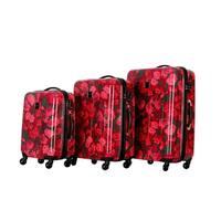 Isaac Mizrahi Irwin 2 Hardside 3-piece luggage set  4-Wheel Spinner Berry