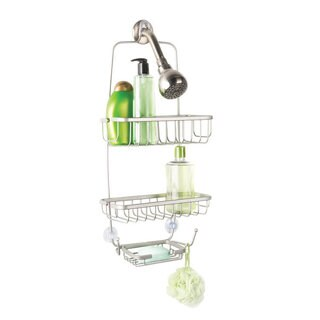 Richards Homewares Richmond Rectangle Satin Nickel Bathtub Shower Caddy