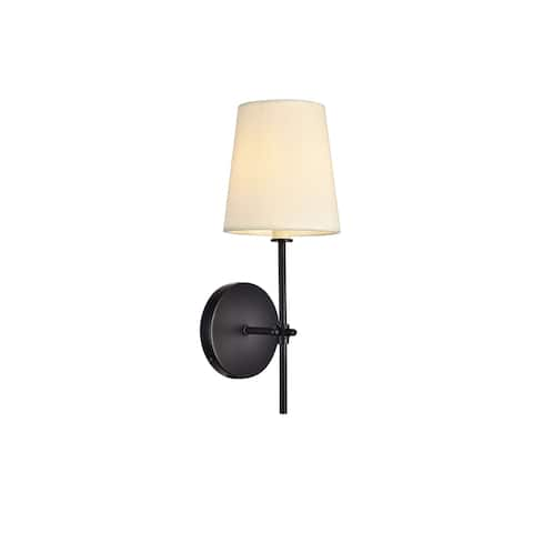 Mel Collection Wall Sconce D5.5 H15 Lt:1 Black Finish