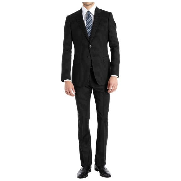 limited guantity attractive designs good texture Braveman Men's Slim-Fit 2 Piece Pinstripe Suits