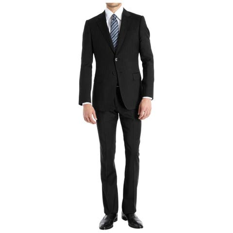 Braveman Men's Slim-Fit 2 Piece Pinstripe Suits