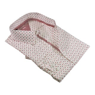 Rosso Milano Modern-Fit Ton On Ton Contrasted Dress Shirt (Option: 20.5)