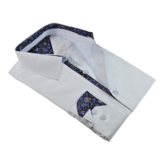 Rosso Milano Shades Patterns With Paisley Contrasted Dress Shirt (Option: 20.5)