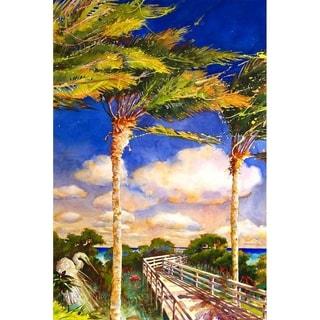"""Boardwalk"" by Jim Gerard Holehouse, Canvas Giclee Wall Art"