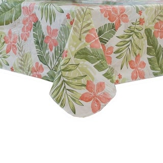 Tropics Vinyl Tablecloth with Polyester Flannel Backing