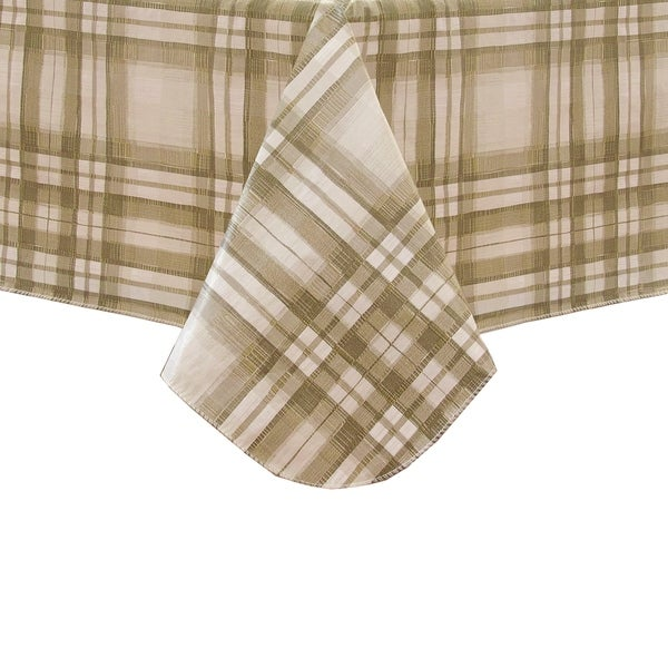 Shop Reeve Plaid Vinyl Tablecloth With Polyester Flannel