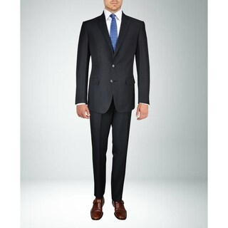 Carlo Studio Black Pinstripe Suit
