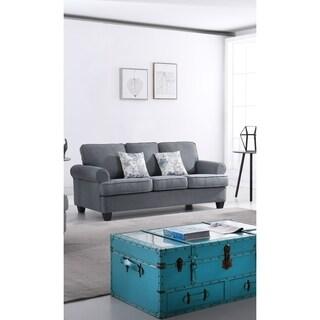 Audrey Mid Century Fabric Sofa
