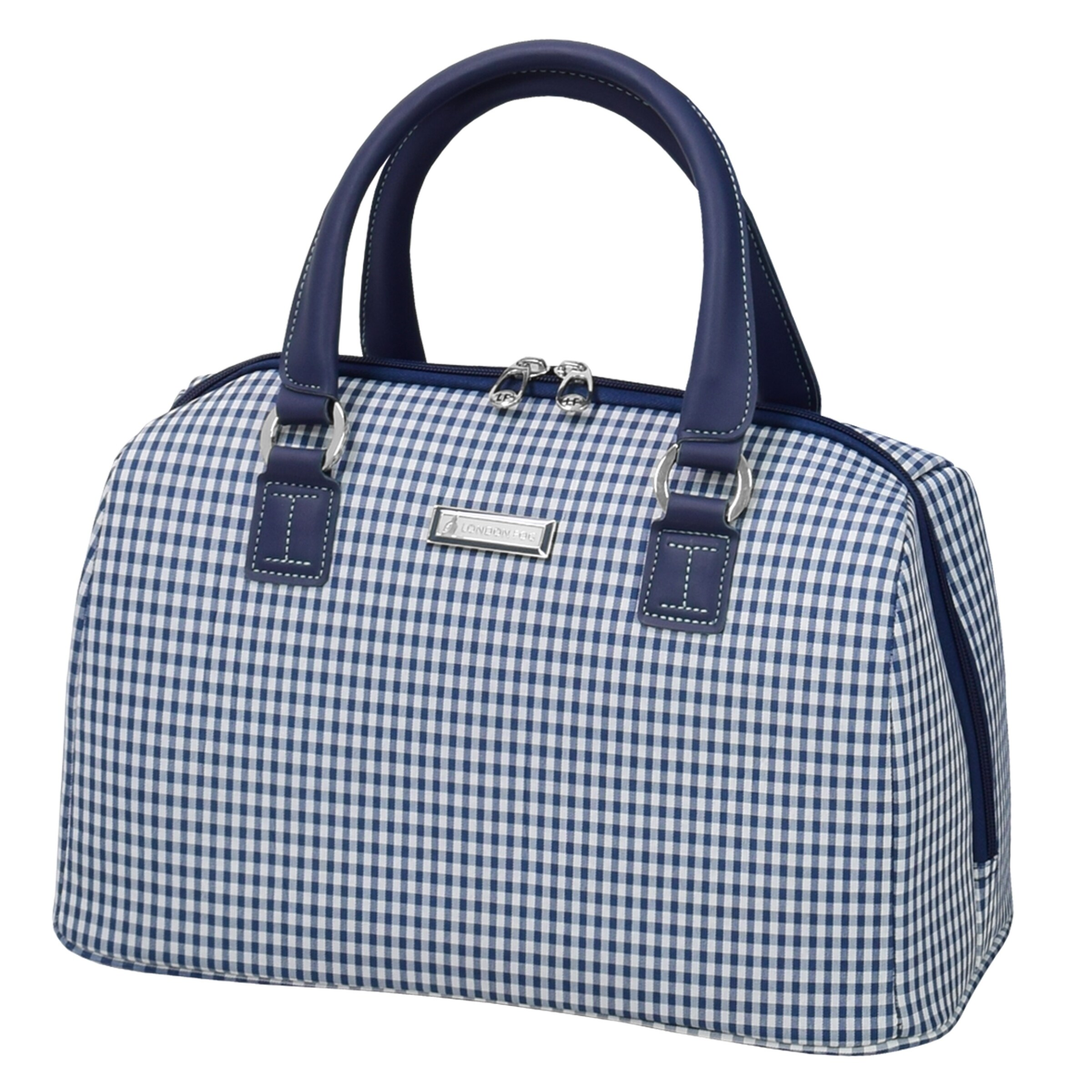 London Fog Hampton 16-inch Carry On Satchel Tote Bag (Nav...