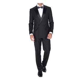 Braveman Men's Double Breasted Slim Fit 2 Piece Tuxedo|https://ak1.ostkcdn.com/images/products/18064169/P24226819.jpg?impolicy=medium