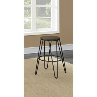Furniture of America Sace Industrial Metal Round Bar Stools Set of 2