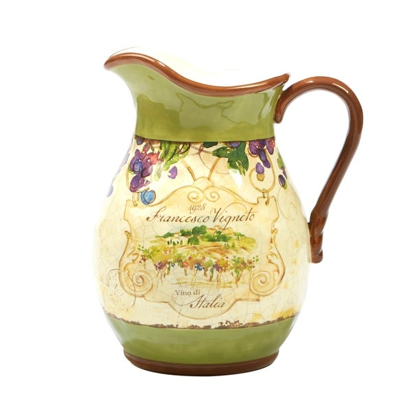 Certified International Vino 3 quart Pitcher