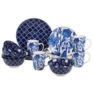 Certified International Blue Indigo 16 pc Dinnerware Set
