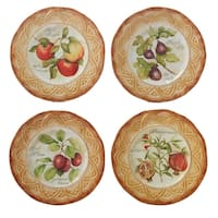 Certified International Tuscan Fruit Dinner Plate in Assorted Designs Set of 4