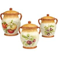 Certified International Tuscan Fruit 3 pc Canister Set