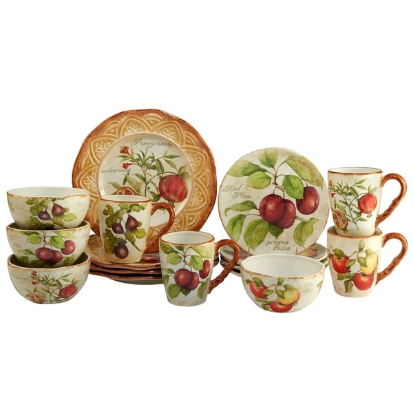 Certified International Tuscan Fruit 16 pc Dinnerware Set  sc 1 st  Overstock.com & Certified International Tuscan Fruit 16 pc Dinnerware Set - Free ...
