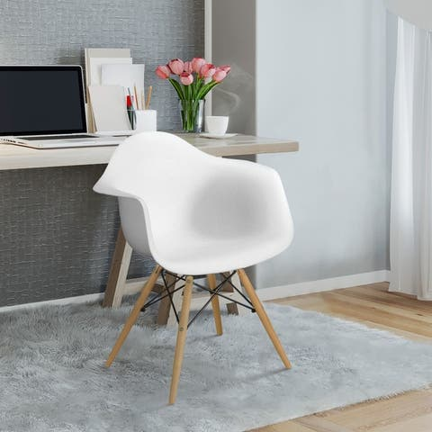 Furniture of America Duff Modern Plastic Dining Chairs (Set of 2)