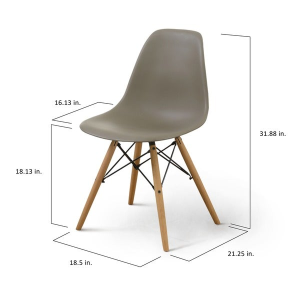 Furniture of America Suff Modern Plastic Accent Chairs (Set of 2)