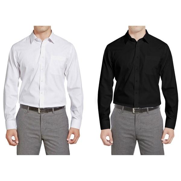 Braveman Men's Slim Fit 2-Pack Dress Shirts