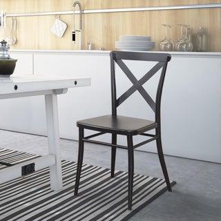 Furniture of America Pia Modern Steel Side Chair (Set of 2)