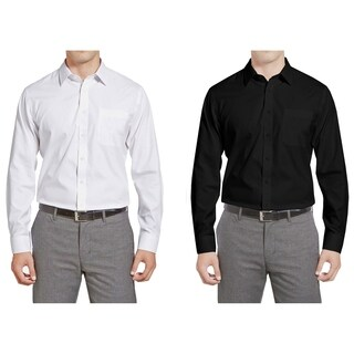 Braveman Men's Classic Fit 2-Pack Dress Shirts (More options available)