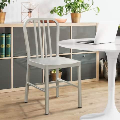 Furniture of America Wiz Modern Grey Metal Side Chairs (Set of 2)
