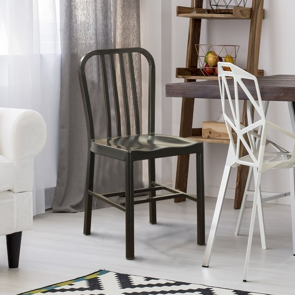 Furniture of America Wiz Modern Grey Metal Side Chairs (Set of 2). Opens flyout.